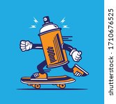 Skater Spray Can Graffiti...