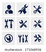 repair icon | Shutterstock .eps vector #171068936