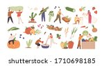 set of various tiny people with ... | Shutterstock .eps vector #1710698185
