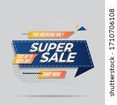 super sale banner templete...   Shutterstock .eps vector #1710706108