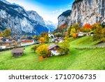 Amazing Autumn Landscape Of...