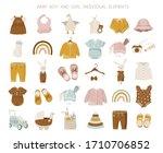 vector nursery illustration of... | Shutterstock .eps vector #1710706852
