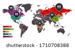 world map with infographic... | Shutterstock .eps vector #1710708388
