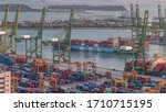 Commercial Port Of Singapore...
