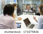 business meeting in office ...   Shutterstock . vector #171075836