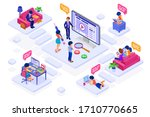 online collaboration education... | Shutterstock .eps vector #1710770665