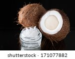 Natural Coconut Oil And Coconuts