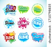 slime logotype templates set. ... | Shutterstock .eps vector #1710798835