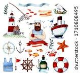 Watercolor Illustration Seaman...