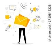vector creative illustration of ... | Shutterstock .eps vector #1710845338