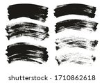 flat paint brush thin curved... | Shutterstock .eps vector #1710862618