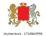 a coat of arms crest heraldic... | Shutterstock .eps vector #1710863998