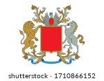 a coat of arms crest heraldic... | Shutterstock .eps vector #1710866152