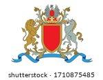 a coat of arms crest heraldic... | Shutterstock .eps vector #1710875485