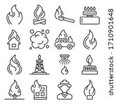fere flames and firefighting...   Shutterstock .eps vector #1710901648