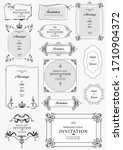 set of ornate vector frames and ...   Shutterstock .eps vector #1710904372