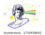 bright vector collage of... | Shutterstock .eps vector #1710928642