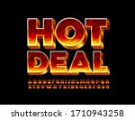 vector creative emblem hot deal ... | Shutterstock .eps vector #1710943258