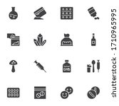 drugs vector icons set  modern... | Shutterstock .eps vector #1710965995