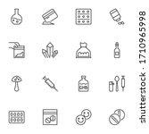 drugs line icons set  outline... | Shutterstock .eps vector #1710965998