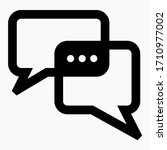 new chat icon. correspondence... | Shutterstock .eps vector #1710977002