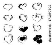 black loving heart icon | Shutterstock .eps vector #171097802