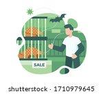 transmission of coronavirus...   Shutterstock .eps vector #1710979645