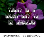 inspirational quotes and... | Shutterstock . vector #1710982972