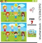 cartoon illustration of finding ... | Shutterstock .eps vector #1711062592