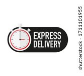 timer with express delivery... | Shutterstock .eps vector #1711101955