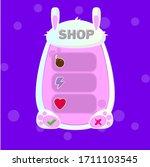 vector game ui asset bunny pop...