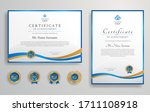 Blue And Gold Certificate Of...