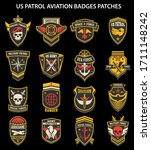 set of military insignia ...   Shutterstock .eps vector #1711148242