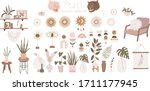 objects for a cozy sweet home.... | Shutterstock .eps vector #1711177945