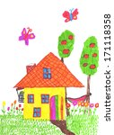 ''home''. hand painted... | Shutterstock . vector #171118358