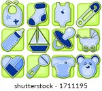 baby boy related items in icon... | Shutterstock .eps vector #1711195