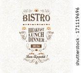 bistro poster | Shutterstock .eps vector #171119696