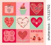 valentine's day card a lovely... | Shutterstock .eps vector #171122702