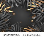 black and gold luxury 3d...   Shutterstock .eps vector #1711243168