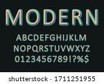 vector modern 3d font with long ... | Shutterstock .eps vector #1711251955