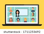 online class. school learn ...   Shutterstock .eps vector #1711253692