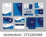 corporate identity template... | Shutterstock .eps vector #1711261468