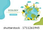 ecology concept. people take...   Shutterstock .eps vector #1711261945