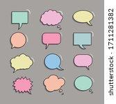 vector set of speech bubbles....   Shutterstock .eps vector #1711281382