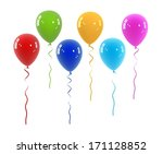 coloured isolated balloons | Shutterstock . vector #171128852