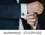 Close Up Of Businessman Wearing ...
