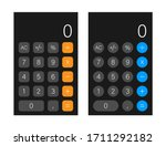 button with black calculator...