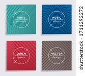 modern vinyl records music... | Shutterstock .eps vector #1711292272