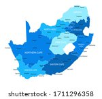 south africa map. cities ... | Shutterstock .eps vector #1711296358