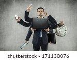 octopus in business   Shutterstock . vector #171130076